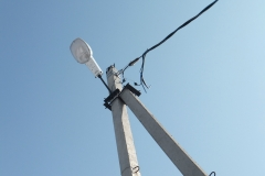 Воздушная линия ЛЭП 0,4 кВ СИП 4_70. Концевая опора.