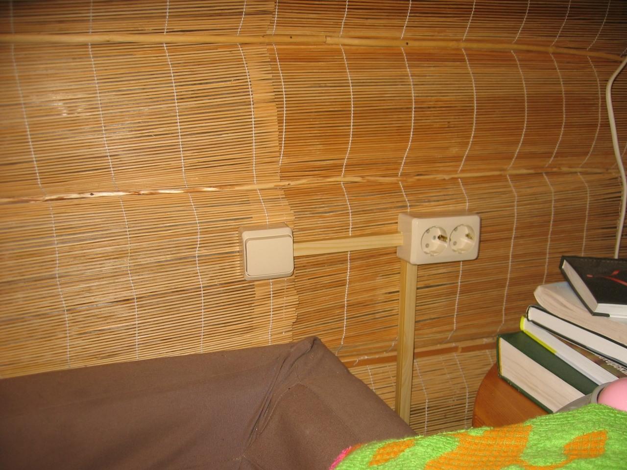 Деревянный дом. Монтаж в кабель-канале 2