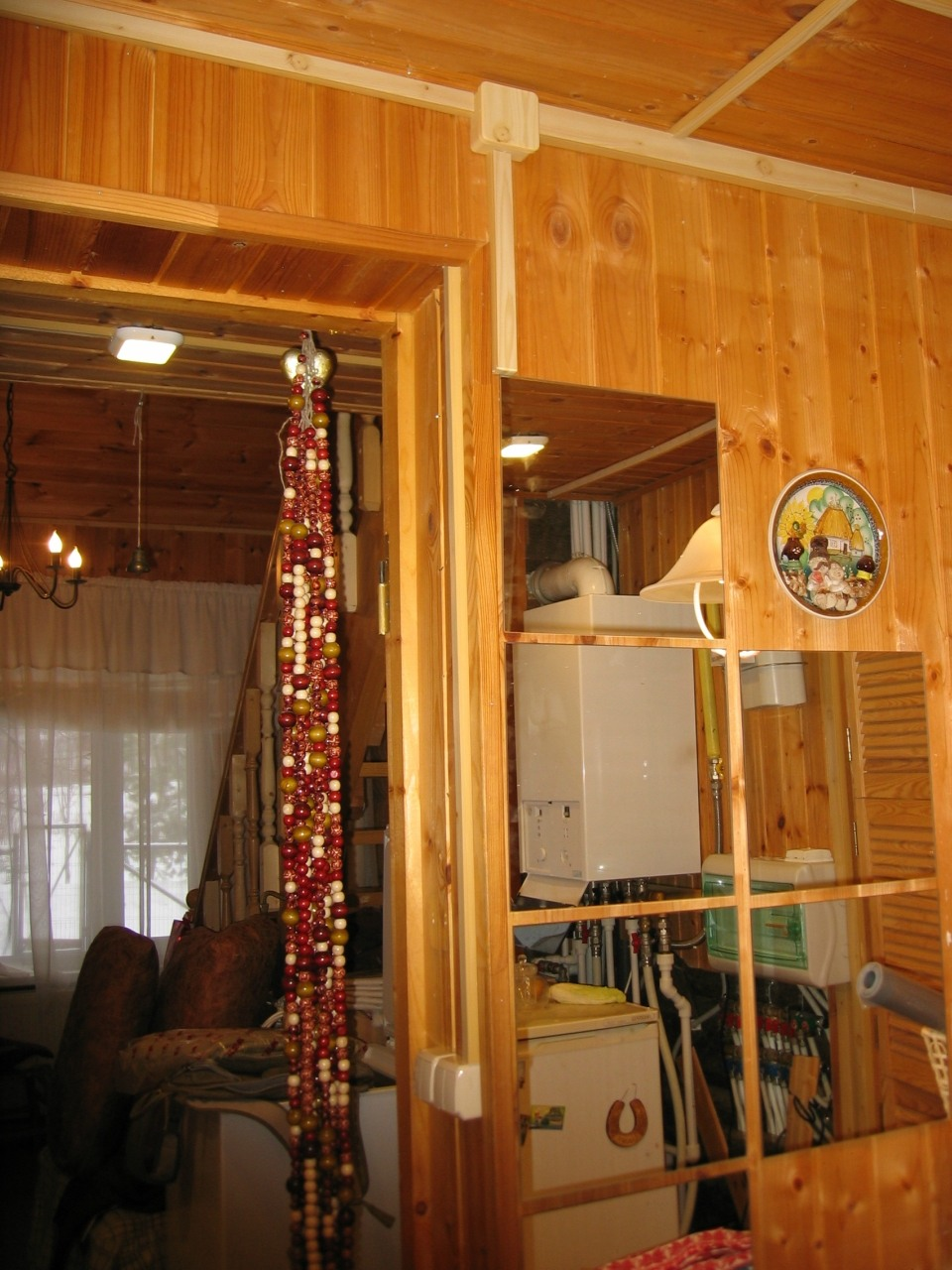 Деревянный дом. Монтаж в кабель-канале. 1